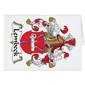 Escudo de la familia de Lembeck Tarjeta De Felicitación