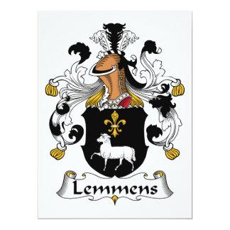 Escudo de la familia de Lemmens Invitación 16,5 X 22,2 Cm