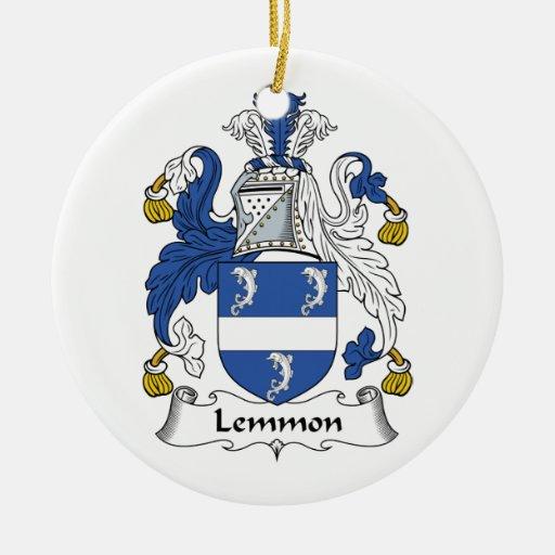 Escudo de la familia de Lemmon Adornos