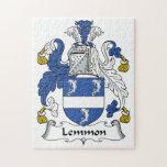 Escudo de la familia de Lemmon Rompecabeza