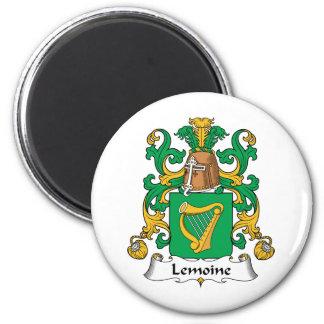 Escudo de la familia de Lemoine Imán Redondo 5 Cm
