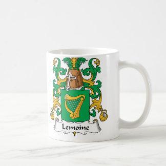 Escudo de la familia de Lemoine Tazas De Café