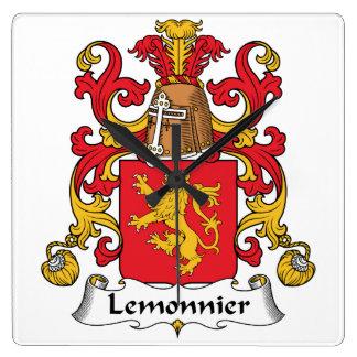 Escudo de la familia de Lemonnier Reloj