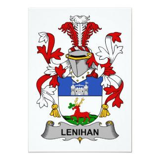 Escudo de la familia de Lenihan Invitación 12,7 X 17,8 Cm