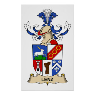 Escudo de la familia de Lenz Póster