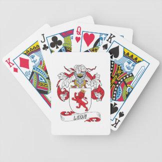 Escudo de la familia de León Baraja Cartas De Poker