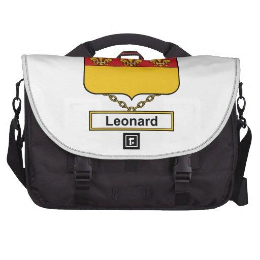 Escudo de la familia de Leonard Bolsas De Portatil