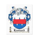 Escudo de la familia de Leonard Impresiones En Lona