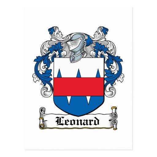 Escudo de la familia de Leonard Postales
