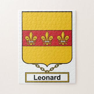 Escudo de la familia de Leonard Rompecabezas Con Fotos