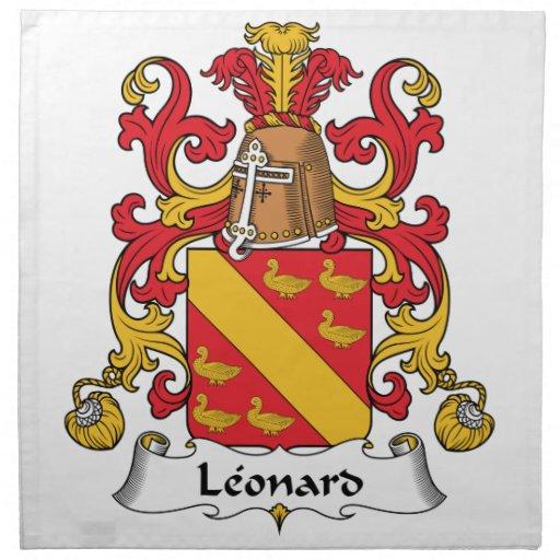 Escudo de la familia de Leonard Servilletas Imprimidas