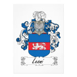 Escudo de la familia de Leoni Comunicados Personalizados