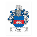 Escudo de la familia de Leoni Postal