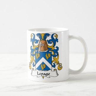 Escudo de la familia de Lepage Taza Clásica