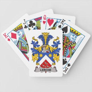 Escudo de la familia de Lerche Baraja Cartas De Poker