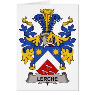 Escudo de la familia de Lerche Tarjeta De Felicitación