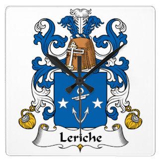Escudo de la familia de Leriche Reloj