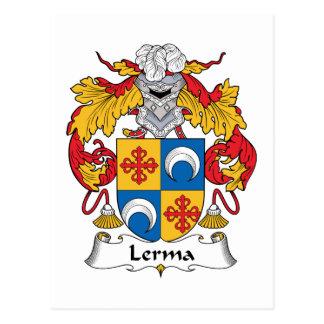 Escudo de la familia de Lerma Postal