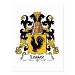 Escudo de la familia de Lesage Postal