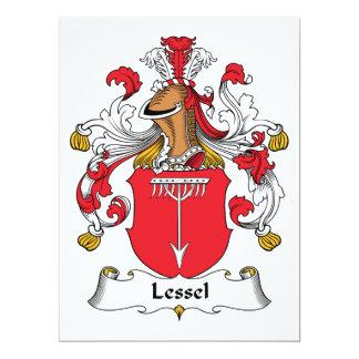 Escudo de la familia de Lessel Invitación 16,5 X 22,2 Cm