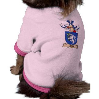 Escudo de la familia de Leth Camiseta De Perrito