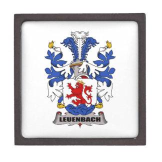 Escudo de la familia de Leuenbach Cajas De Recuerdo De Calidad