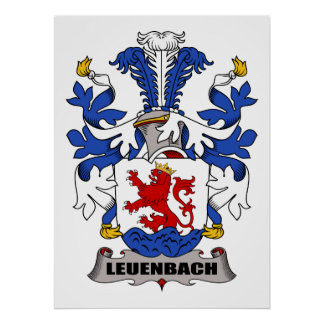 Escudo de la familia de Leuenbach Poster
