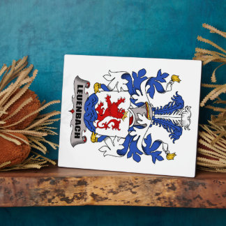 Escudo de la familia de Leuenbach Placas De Madera
