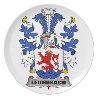 Escudo de la familia de Leuenbach Plato Para Fiesta