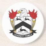 Escudo de la familia de Leverett Posavasos Diseño