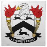 Escudo de la familia de Leverett Servilletas De Papel
