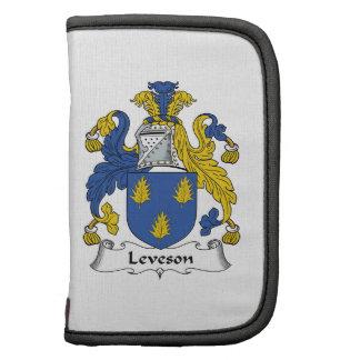 Escudo de la familia de Leveson Organizadores
