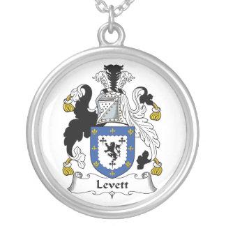 Escudo de la familia de Levett Colgante Redondo