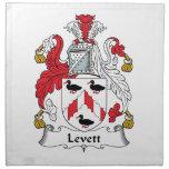 Escudo de la familia de Levett Servilletas