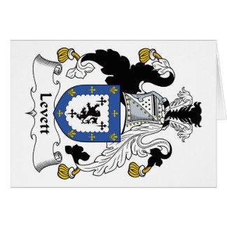 Escudo de la familia de Levett Tarjeta De Felicitación