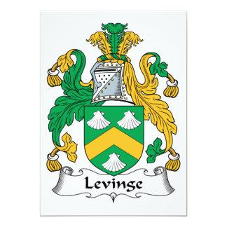 """Escudo de la familia de Levinge Invitación 5"""" X 7"""""""