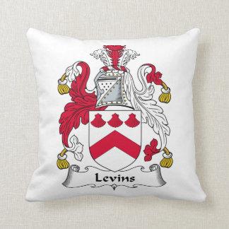 Escudo de la familia de Levins Cojín