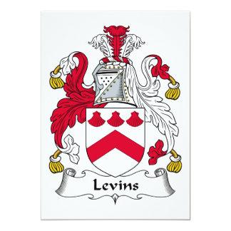 """Escudo de la familia de Levins Invitación 5"""" X 7"""""""
