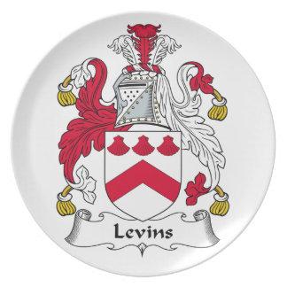 Escudo de la familia de Levins Platos