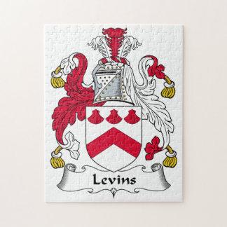 Escudo de la familia de Levins Rompecabeza Con Fotos