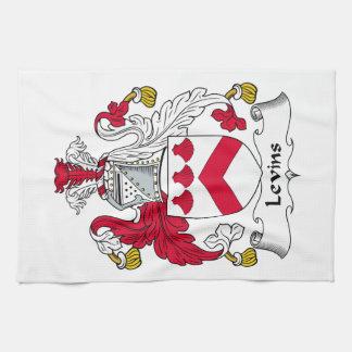 Escudo de la familia de Levins Toallas De Mano