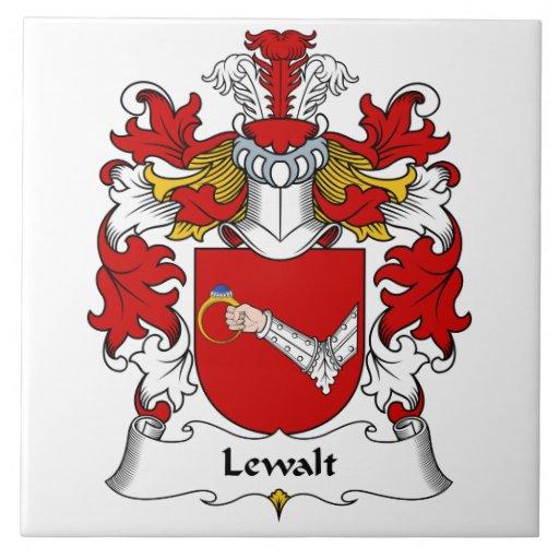 Escudo de la familia de Lewalt Azulejos Cerámicos