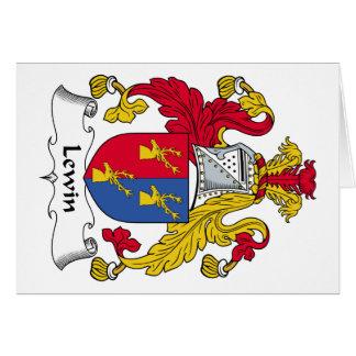 Escudo de la familia de Lewin Felicitaciones