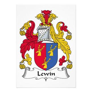 Escudo de la familia de Lewin Comunicados Personalizados