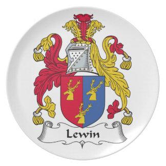 Escudo de la familia de Lewin Plato Para Fiesta