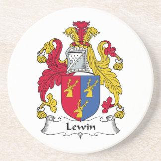 Escudo de la familia de Lewin Posavasos Para Bebidas