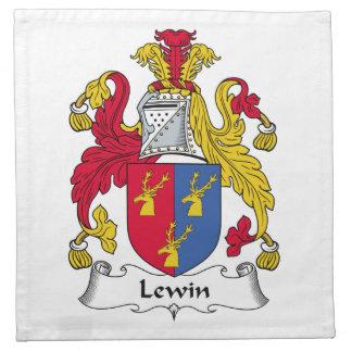 Escudo de la familia de Lewin Servilleta De Papel