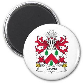 Escudo de la familia de Lewis Imán Redondo 5 Cm