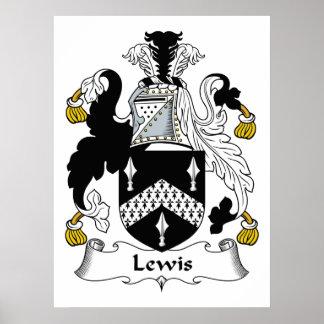 Escudo de la familia de Lewis Posters