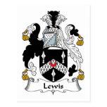 Escudo de la familia de Lewis Postal